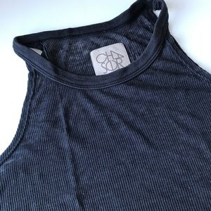 Chaser Black Muscle Tank Size Small